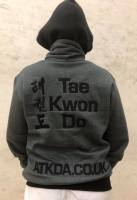 Warrior, fleece, zipped, jacket, grey, Absolute Taekwondo association